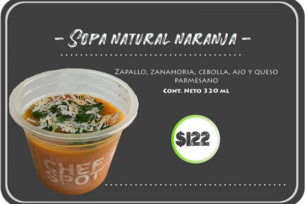 Sopa natural naranja